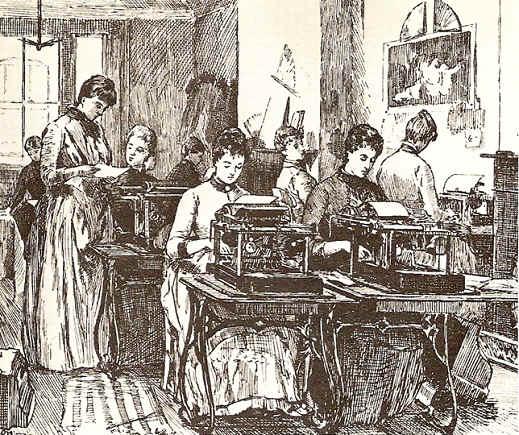 image typists 1888