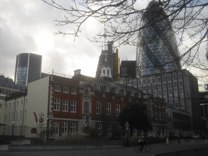 School with Gherkin present day