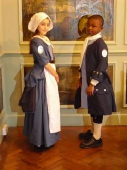 Children in 1710 Uniforms