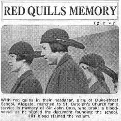 Press cutting from 1927 from Florence Basgut's scrapbook
