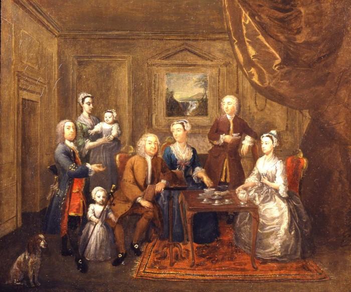 The Norris Family taking Tea 1738